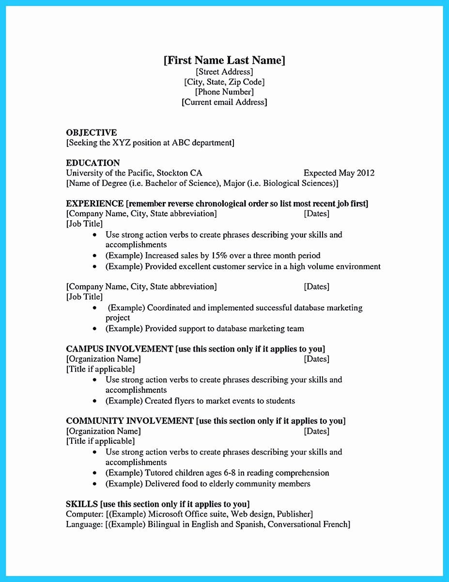 First Job Experience Essay Best Of Best Current College Student Resume with No Experience