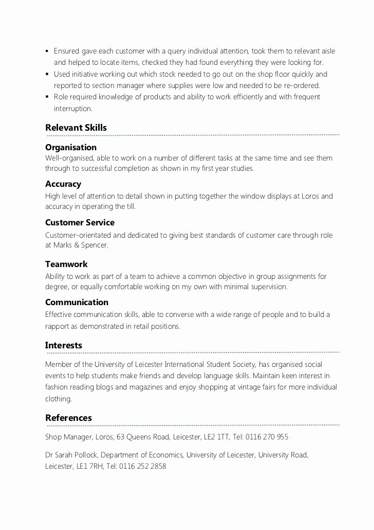First Job Experience Essay Inspirational Example Part Time Cv