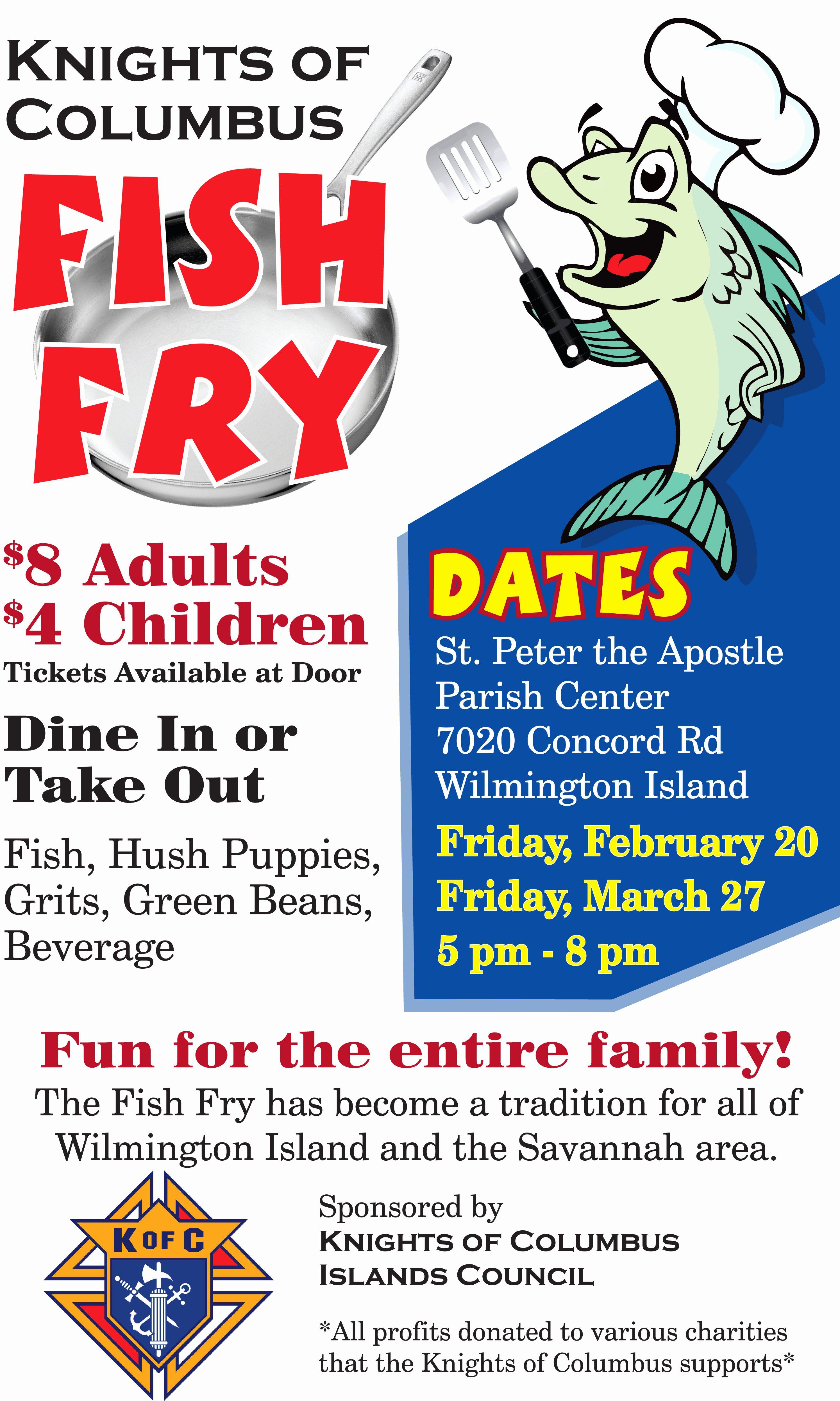 Fish Fry Flyer Template Awesome K Of C Lenten Fish Fry Saint Peter the Apostle Saint