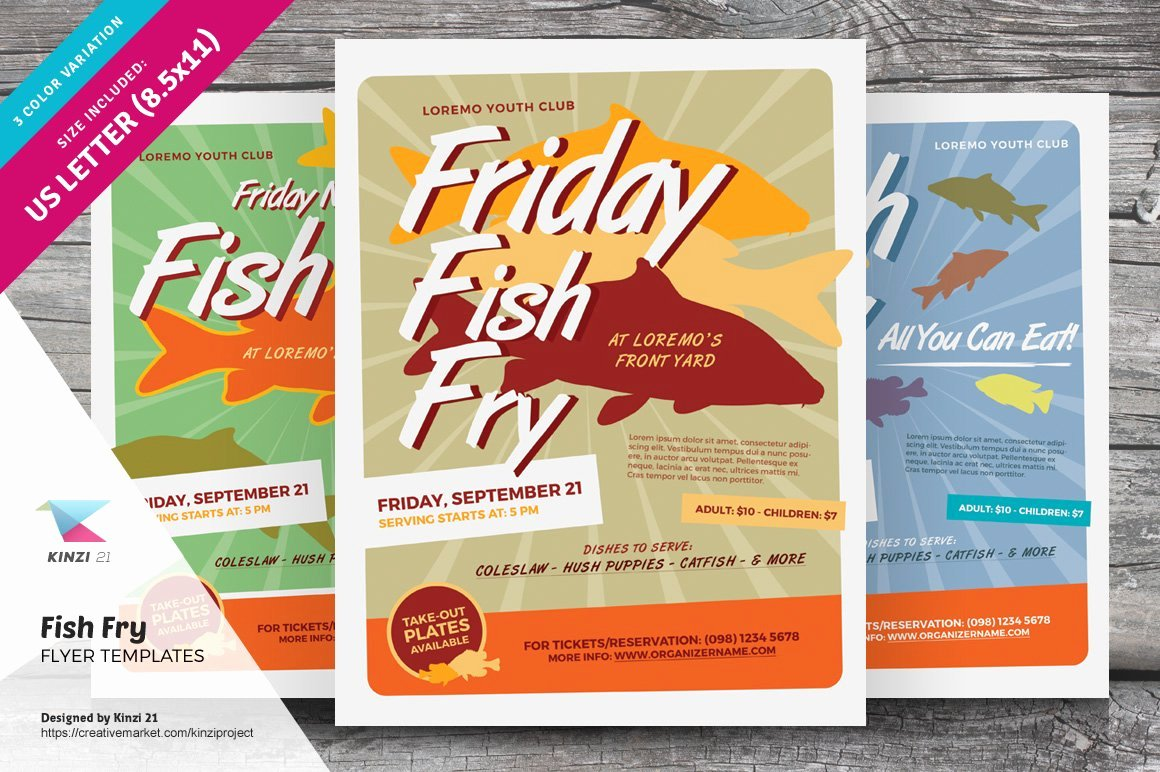 Fish Fry Flyer Template Beautiful Fish Fry Flyer Templates Flyer Templates Creative Market