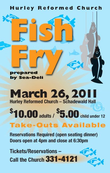 Fish Fry Flyer Template Elegant Hurley Reformed Church