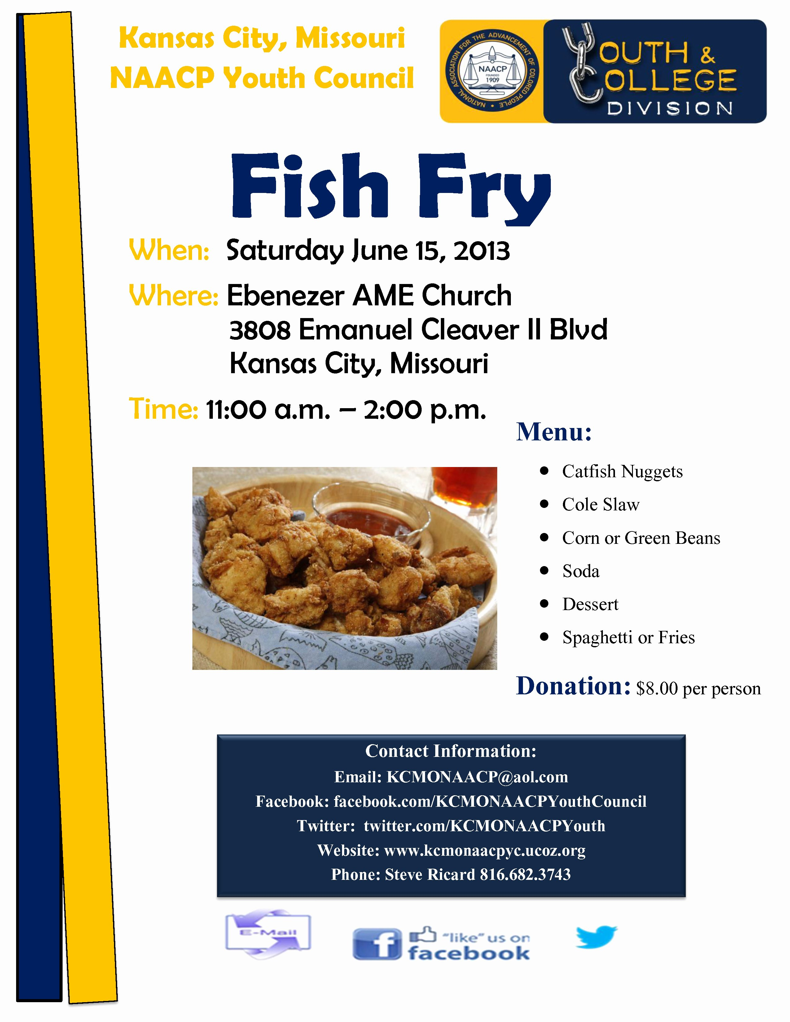 Fish Fry Flyer Template Elegant Kcmo Naacp Youth Council Fish Fry with Fish Fry Clipart