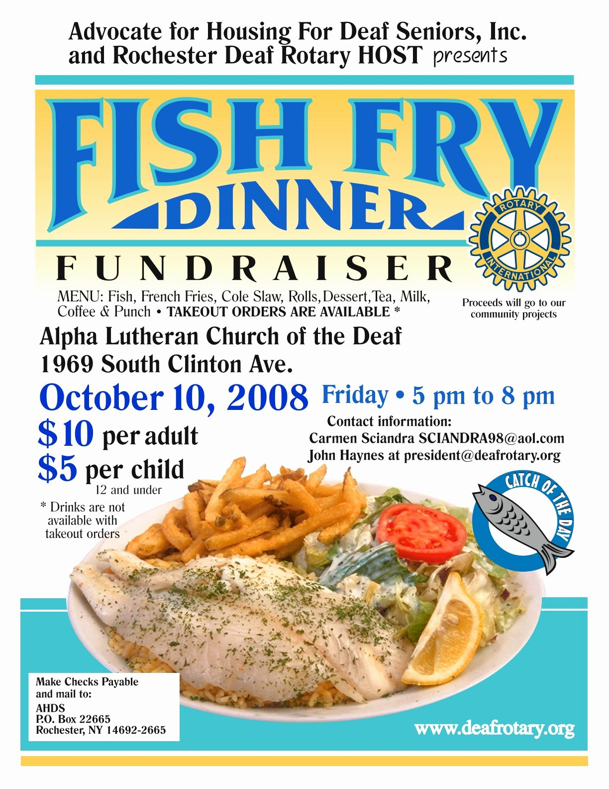 Fish Fry Flyer Template Fresh Deafroc