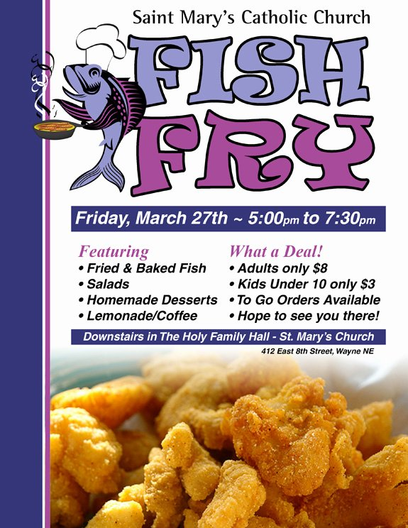 Fish Fry Flyer Template Fresh Fish Fry Flyer Template and Chicken Downl with Benefit