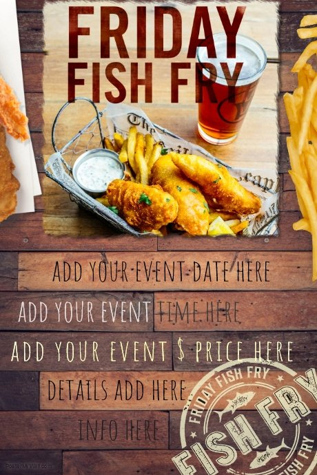 Fish Fry Flyer Template Inspirational Fish Fry Food Restaurant Special Seafood Party Reunion