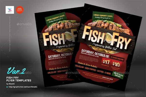 Fish Fry Flyer Template Luxury 20 Fishing Flyer Templates Free & Premium Download