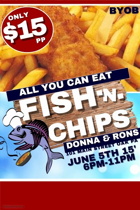 Fish Fry Flyer Template Luxury Fish and Chips Template
