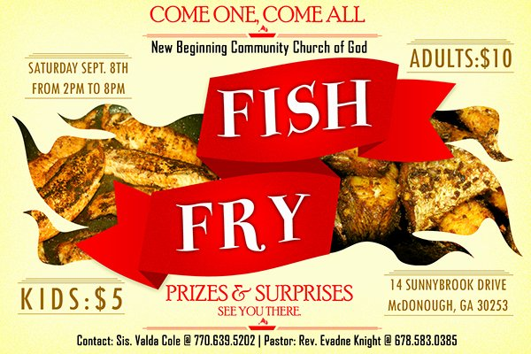 Fish Fry Flyer Template Luxury Fish Fry On Behance