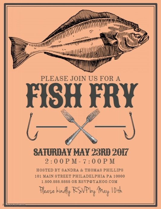 Fish Fry Flyer Template New Fish Fry Template