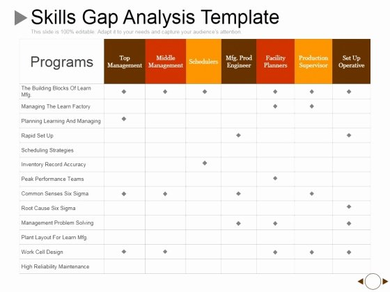 Fit Gap Analysis Template Excel Luxury Sample Gap Analysis Ppt