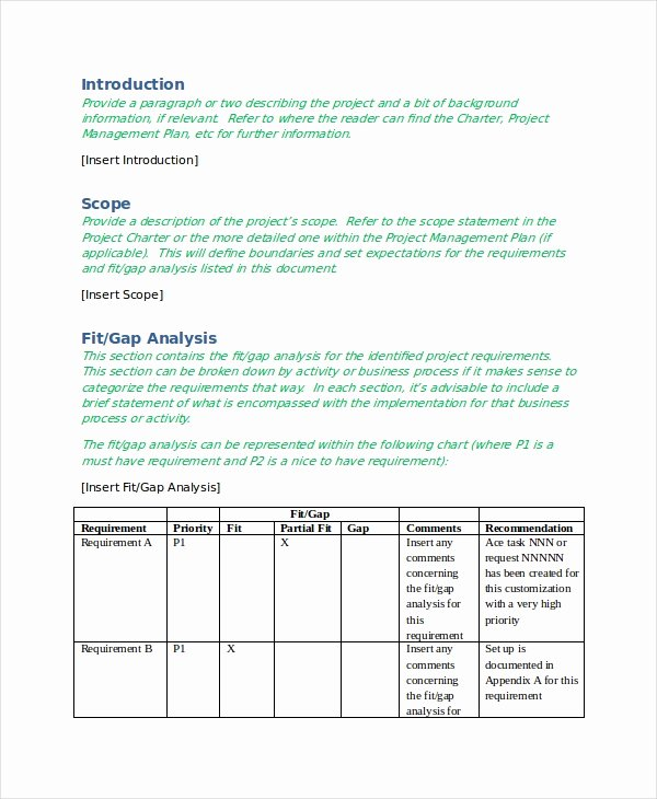 Fit Gap Analysis Template Excel Unique 10 Free Gap Analysis Templates Word Excel Pdf