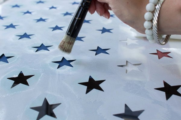 Flag Star Stencil Awesome Diy Rustic American Flag Finding Silver Pennies