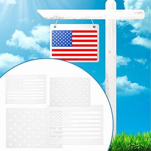 Flag Star Stencil Beautiful Blulu Star Stencil 50 Stars American Flag Template 2 In 1
