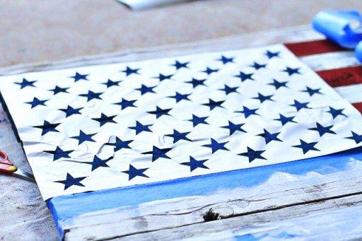 Flag Star Stencil Beautiful Diy Reclaimed Wood American Flag