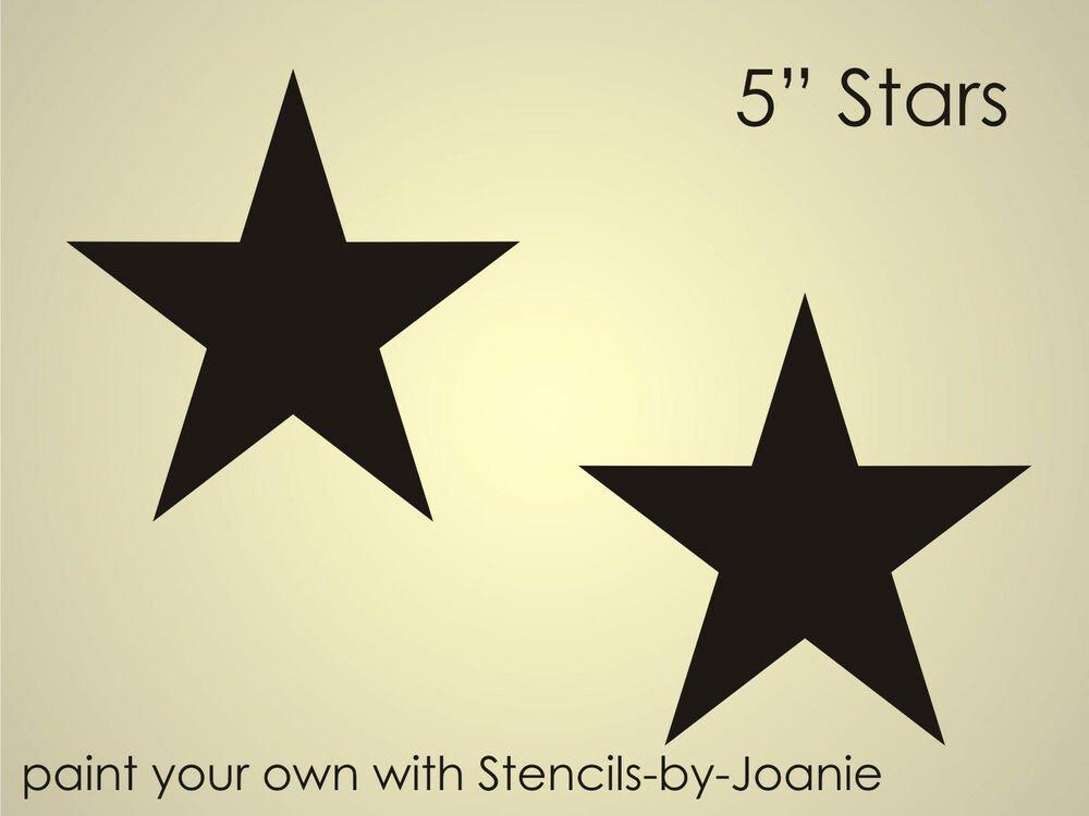 """Flag Star Stencil Elegant Stencil 5"""" American Barn Star Primitive Country Western"""