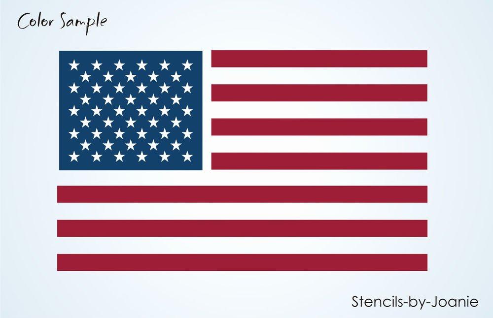 "Flag Star Stencil Fresh Stencil 6"" Amercian Flag Stripes 50 Stars Primitive"
