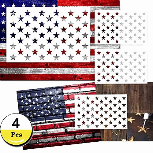 Flag Star Stencil Inspirational 4 Pack 50 Star Stencil American Flag Painting Template