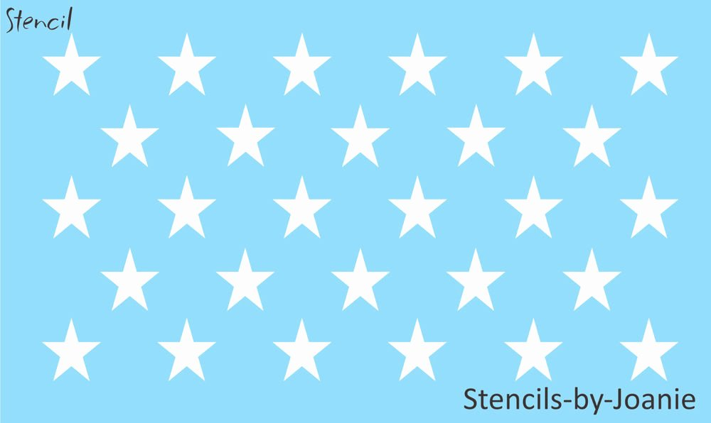 Flag Star Stencil Inspirational Patriotic Stencil 28 1 75 Inch Stars Proud American Flag