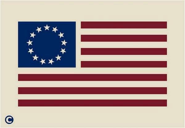 Flag Star Stencil Luxury Primitive Stencil Betsy Ross Flag Patriotic Americana 13