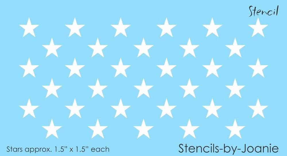 "Flag Star Stencil Luxury Stencil 33 1 25"" Size Stars to Fit 15x19 Blue American"