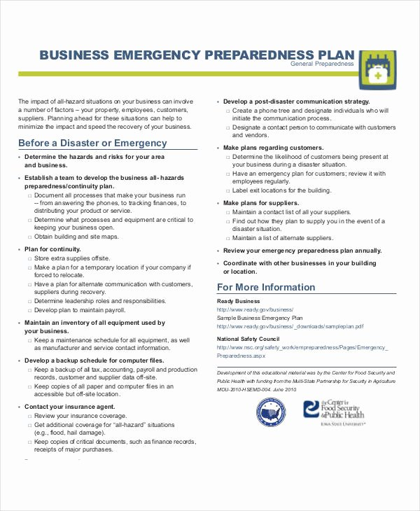 Flood Emergency Response Plan Template Beautiful 29 Emergency Plan Examples Word Google Docs Apple