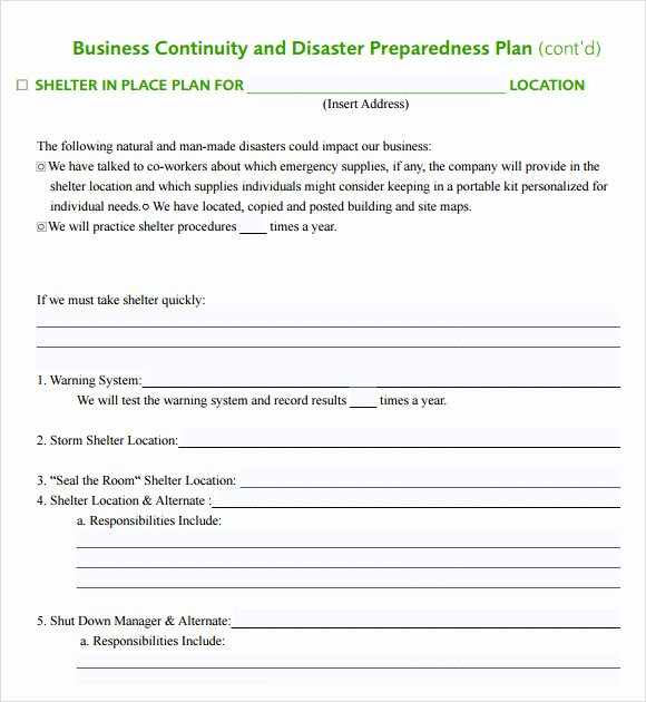Flood Emergency Response Plan Template Best Of 12 Sample Business Continuity Plan Templates