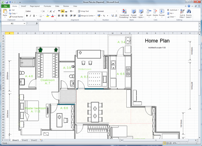 Floor Plan Templates Free Awesome Create Floor Plan for Excel
