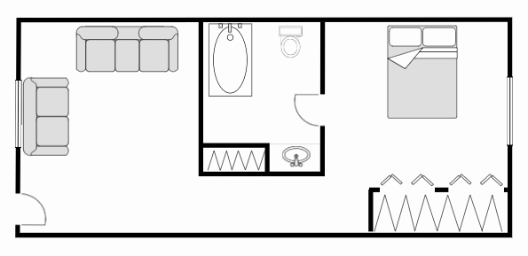 Floor Plan Templates Free Awesome Floor Plan Templates Draw Floor Plans Easily with Templates