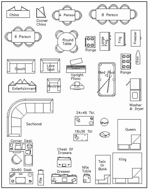 Floor Plan Templates Free Lovely Free Printable Furniture Templates