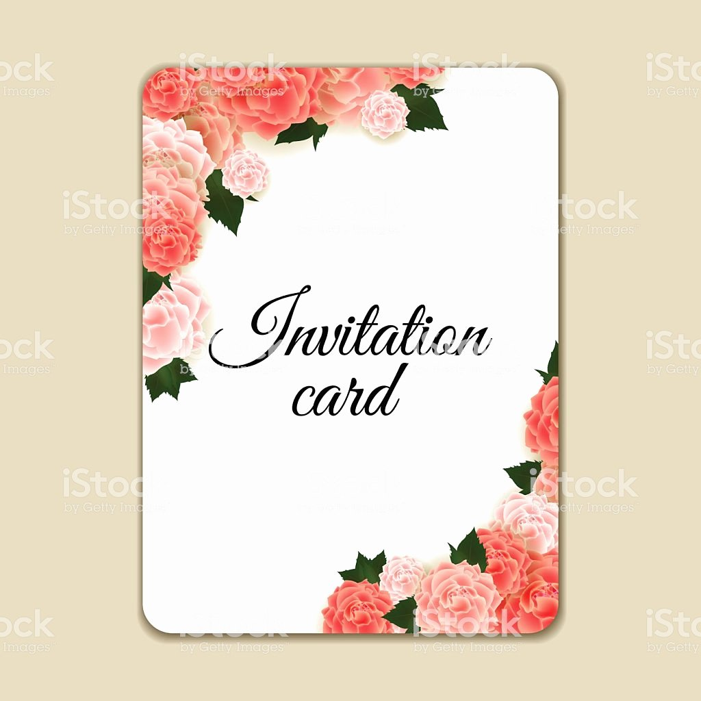 Floral Invitation Template Beautiful Vintage Floral Invitation Template with Hand Drawn Flowers