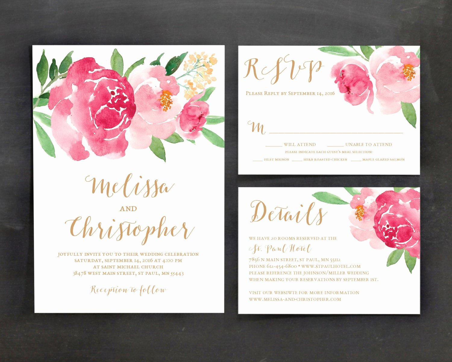 Floral Invitation Template Best Of Printable Wedding Invitation Template Set Floral Wedding