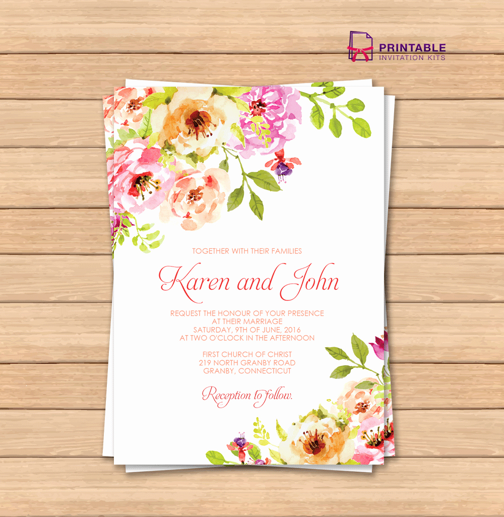 Floral Invitation Template Fresh Vintage Floral Border Invitation Template ← Wedding
