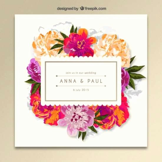 Floral Invitation Template Unique 40 Free Wedding Invitation Templates Xdesigns