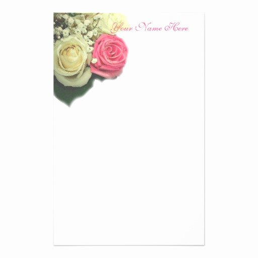 Floral Stationery Template Free Awesome Rose Floral Stationary Template Stationery Design