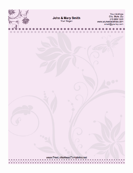 Floral Stationery Template Free Awesome Wedding Letterhead Floral