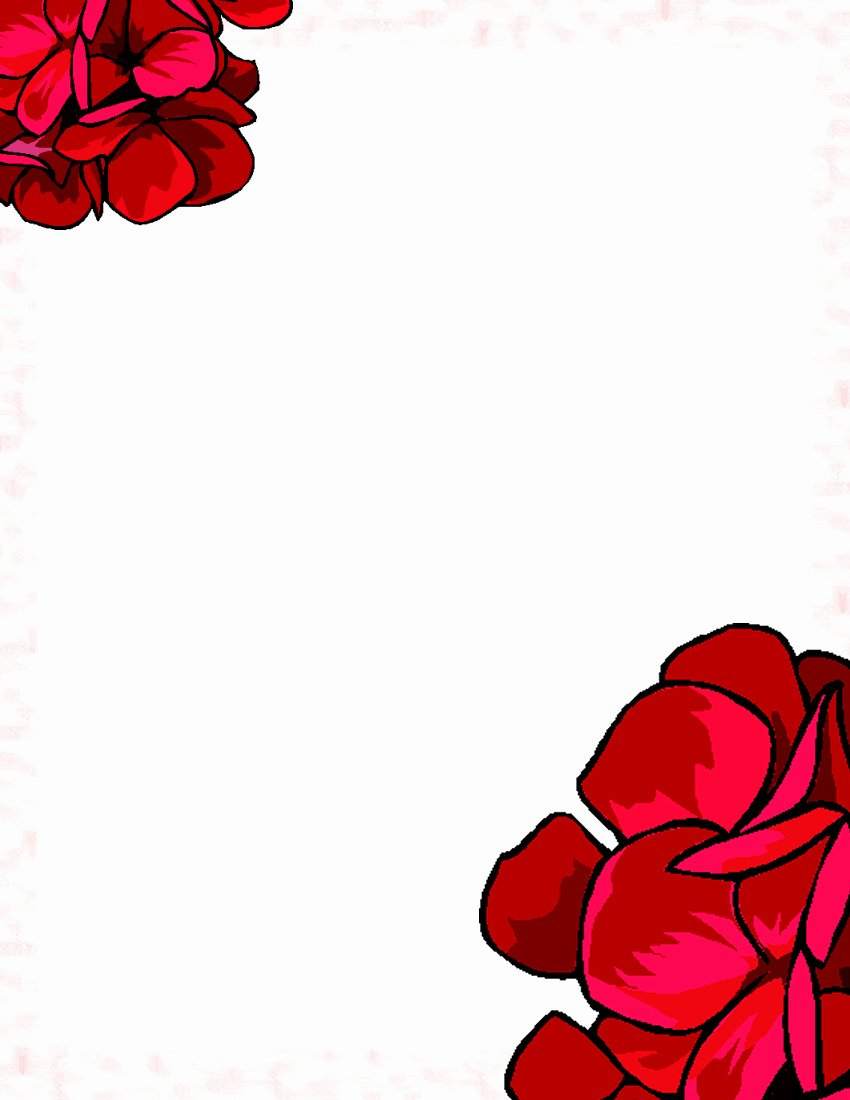 Floral Stationery Template Free Beautiful Floral Stationery theme Free Page 1