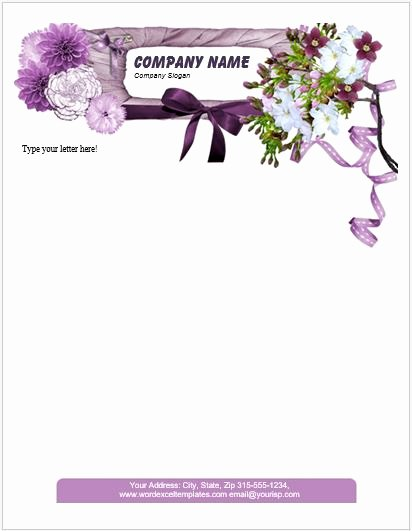 Floral Stationery Template Free Elegant Floral Letterhead Templates for Ms Word