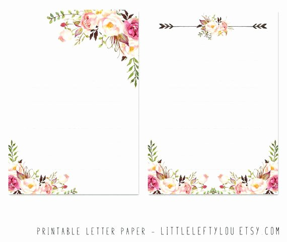 Floral Stationery Template Free Elegant Floral Stationery – Tila