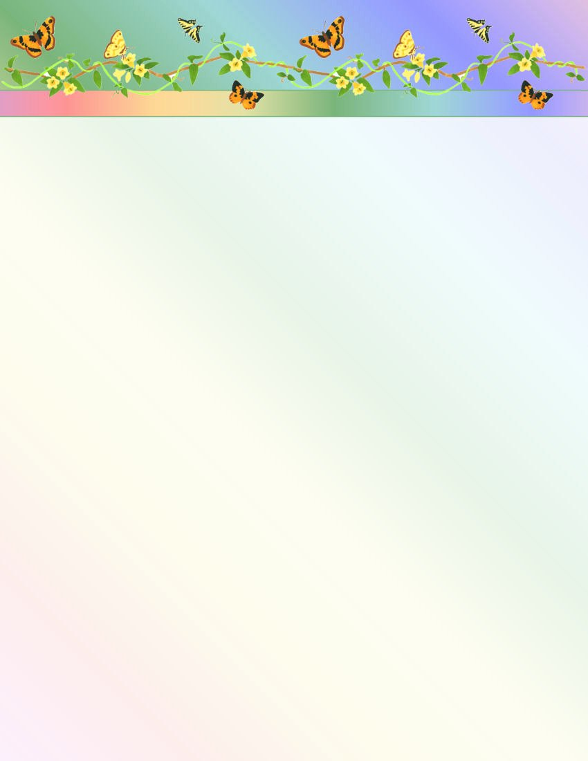 Floral Stationery Template Free Inspirational butterfly Floral Stationery Printer Paper 26 Sheets