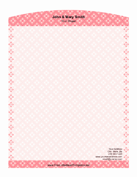 Floral Stationery Template Free Lovely Floral Check Letterhead