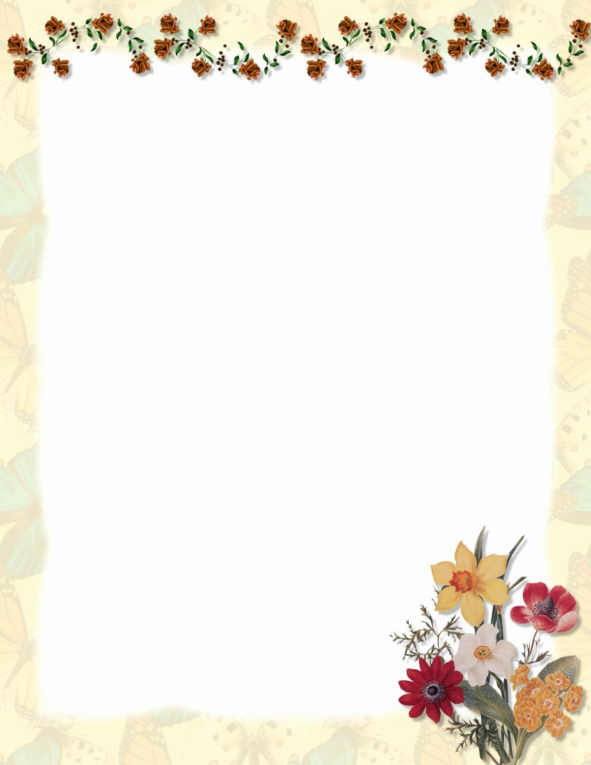Floral Stationery Template Free Luxury 1000 Images About A Papier On Pinterest
