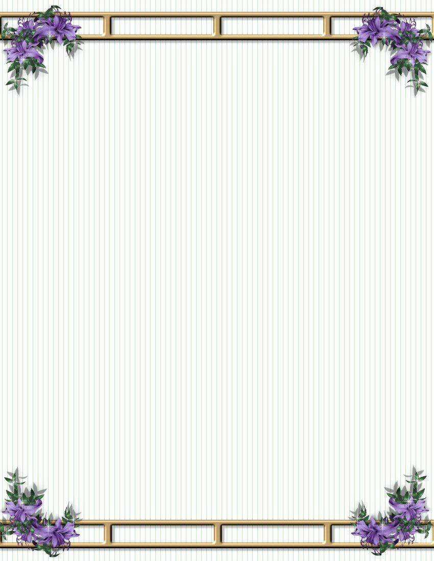 Floral Stationery Template Free Luxury 20 Frames Png Flores