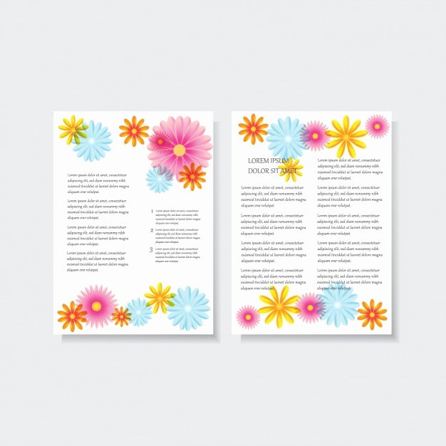 Floral Stationery Template Free Luxury Floral Letterhead Design Vector