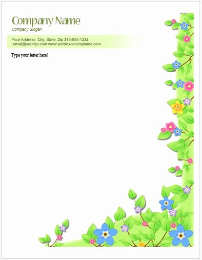 Floral Stationery Template Free Luxury Floral Letterhead Templates for Ms Word