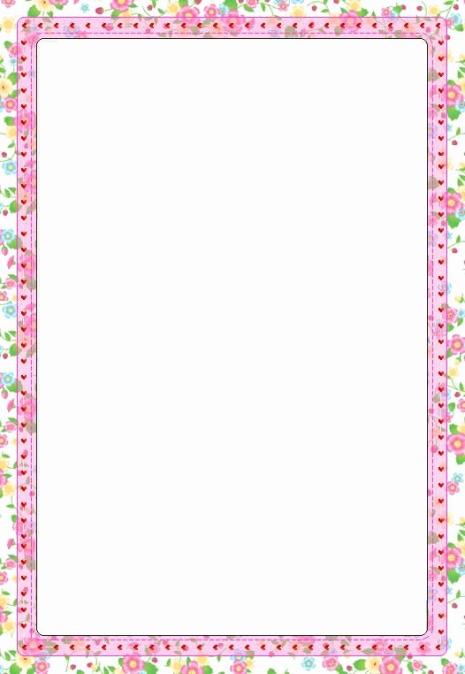 Floral Stationery Template Free Luxury Free Printable Border Paper Stationery