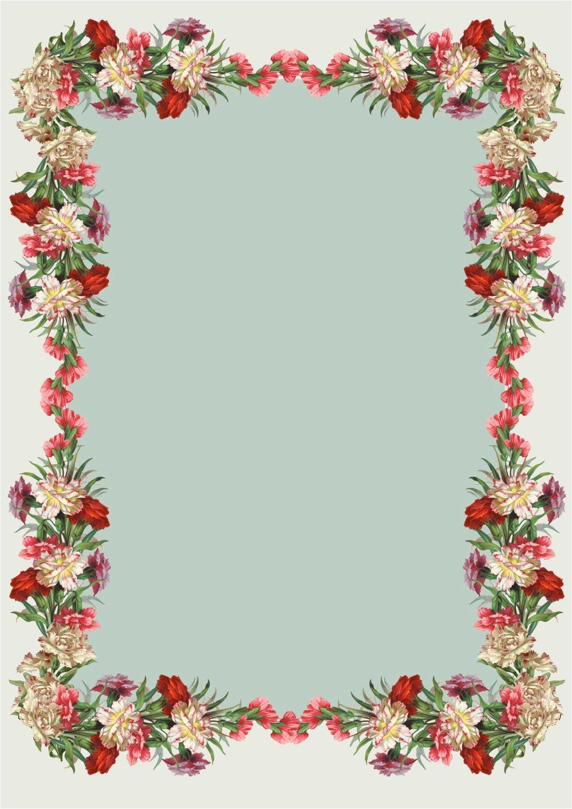Floral Stationery Template Free Luxury Free Printable Vintage Flower Stationery Ausdruckbares