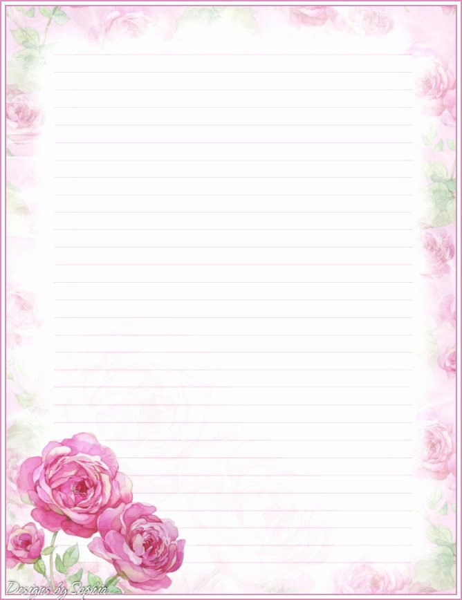 Floral Stationery Template Free New My Printable Stationary Creations 3 sophia Designs