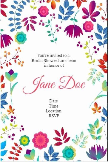 Flower Invitation Template Awesome Spring Floral Party Invitation Personalized Party Invites