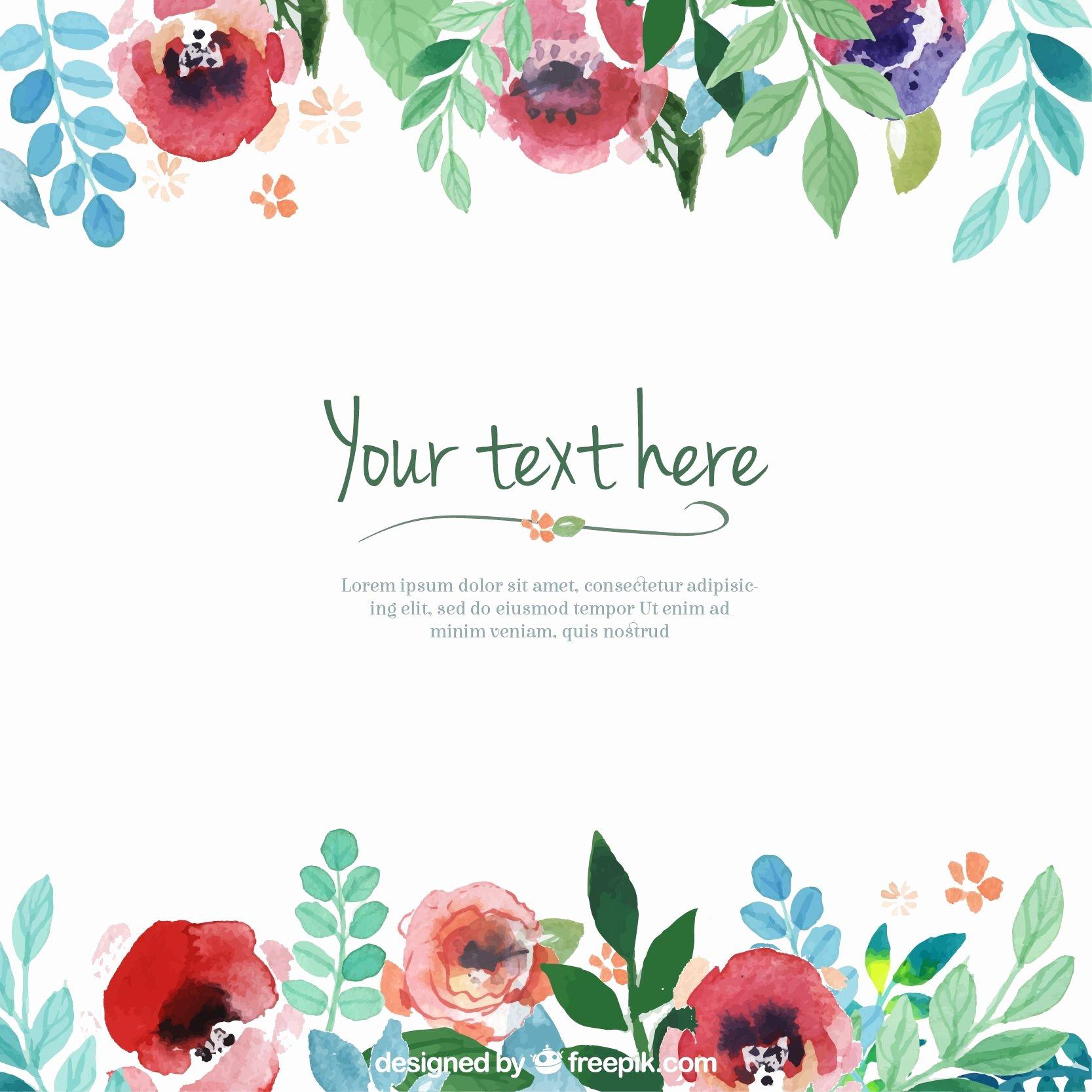 Flower Invitation Template Best Of Resultado De Imagen Para Flores En Acuarelas Marco O