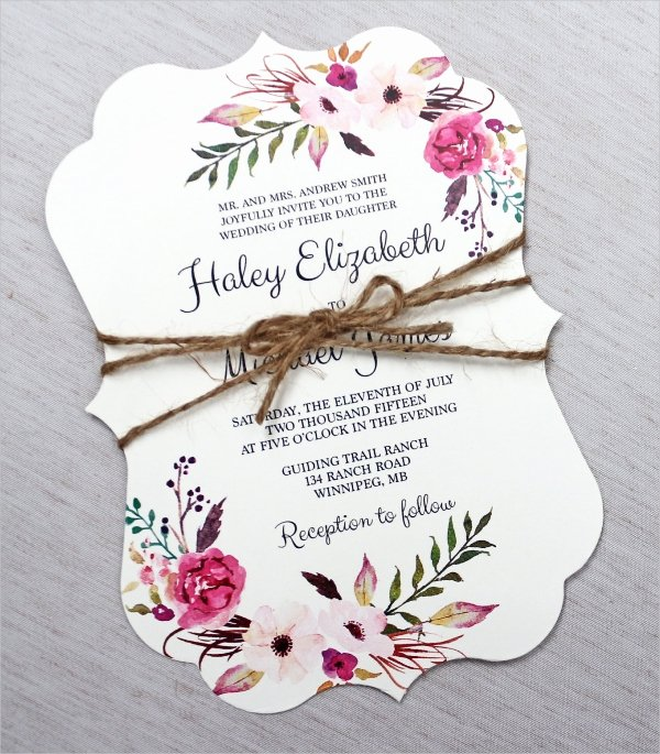 Flower Invitation Template Elegant 30 Elegant Wedding Invitations Free Psd Vector Ai Ep